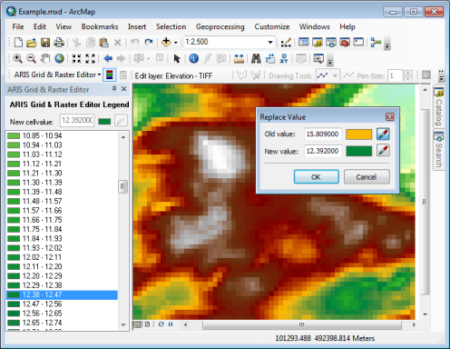 Grid & Raster Editor for ArcMap, replace values in a (Geo)TIFF raster